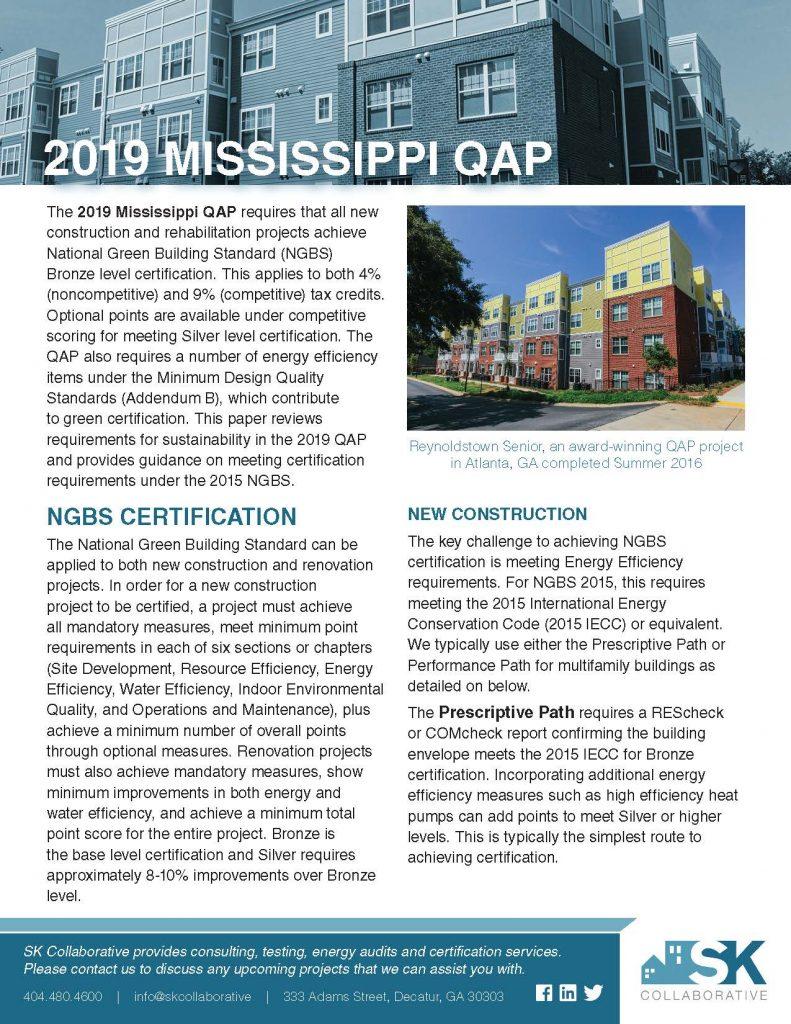 2019 Mississippi QAP